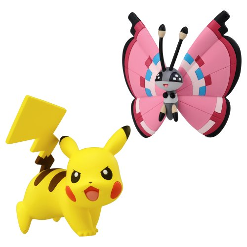 Pokémon 2 Pack Small Figures Pikachu vs Vivillion - 1