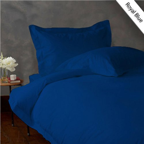 300Tc Rv Bunk 38Inchx75Inch Fitted Sheet 1Pcs + 2Pcs Pillow Case Egyptian Cotton 30 Inches Deep Pocket ,Egyptian Blue Solid front-167128