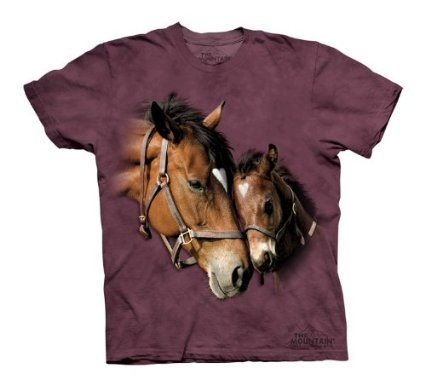 The Mountain Two Hearts Horses Child T-Shirt S front-646416