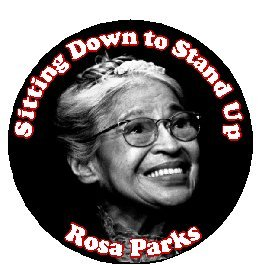 """Amazon.com: Sitting Down to Stand Up - Rosa Parks 1.25"""" Pinback Button"""