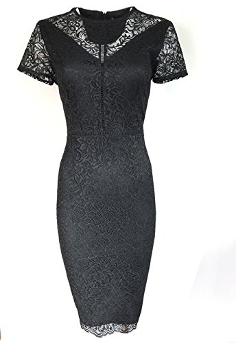 new-ms-black-lace-bodycon-dress-marks-spencer-size-22