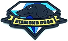 Diamond Dogs metal gear Solid cosplay Airsoft Velcro PVC Parche