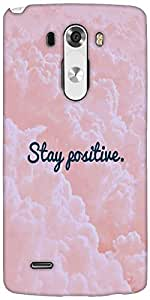 Snoogg Stay Positive Designer Protective Back Case Cover For LG G3