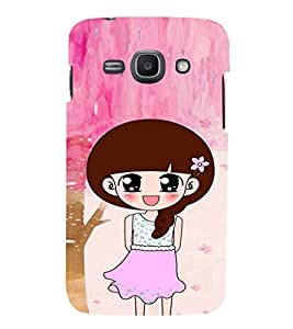 EPICCASE Pink Skirt Girl Mobile Back Case Cover For Samsung Galaxy Ace 3 (Designer Case)