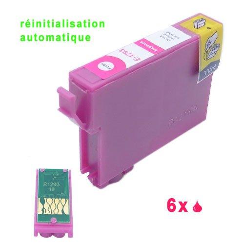 6xMagenta Druckerpatronen mit auto-reset chipset komp. für Epson Stylus Office B42WD BX305F BX305FW BX305FW Plus, BX320FW BX525WD BX535WD BX625FWD BX630FW BX635FWD BX925FWD BX935FWD Stylus SX235W SX420W SX425W SX435W SX445W SX525WD SX535WD SX620FW WorkForce WF-7015 WF-7515 WF-7525