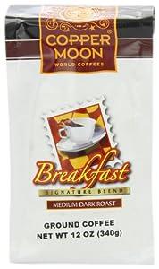 Copper Moon Breakfast Blend Coffee, Medium Dark Roast, Ground, 12-Ounce Bags (Pack of 3)