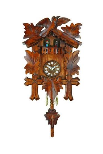 German Black Forest Pendulum Clock Quartz-movement 10 inch - Authentic black forest cuckoo clock by Trenkle Uhren