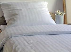 Genieße den Schlaf 4260216519963 Bettwäsche Set, 200 x 220 cm, 3teilig, Damast MakoSatin aus 100% Baumwolle, weiß    Kundenbewertung und weitere Informationen