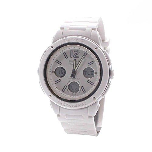 Casio Women's Baby-G BGA150-7B White Resin Quartz Watch with Digital Dial
