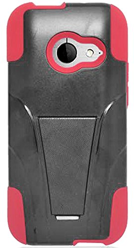 Mylife Tomato Red {Layered Design} Two Piece Neo Hybrid (Shockproof Kickstand) Case For The All-New Htc One M8 Android Smartphone - Aka, 2Nd Gen Htc One (External Hard Fit Armor With Built In Kick Stand + Internal Soft Silicone Rubberized Flex Gel Full Bo front-352706