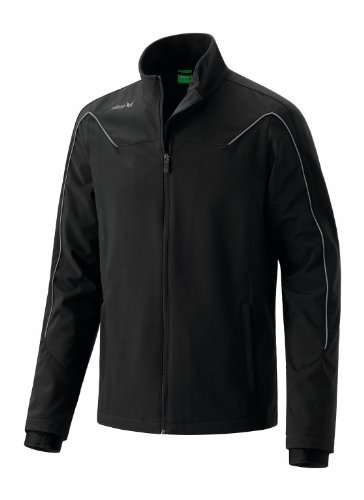 erima Kinder Jacke Shooter Softshell, schwarz/granite, 164, 106120