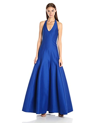 HALSTON-HERITAGE-Womens-Sleeveless-Halter-Neck-Gown-with-Tulip-Skirt