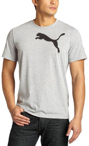 Puma Men's Cat Tee,Athletic Grey Heather-Black,Medium