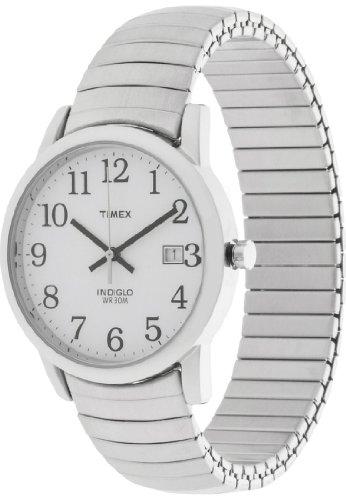 Timex Herren-Armbanduhr Easy Reader Analog Quarz (One Size, weiß)
