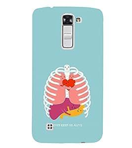 EPICCASE hugs keeps us alive Mobile Back Case Cover For LG K10 (Designer Case)