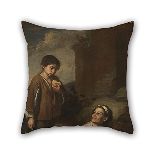 Uloveme Oil Painting Murillo, Bartolomé Estéban - Two Peasant Boys Pillow Shams 18 X 18 Inches / 45 By 45 Cm Gift Or Decor For Bedding,adults,lounge,office,dinning Room,her - Double Sides (Quest Bug Ban compare prices)
