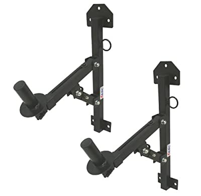 ASC (2) Pro Audio DJ Speaker Stand Wall Fixed Mount Bracket Holder Adjustable Adapter Pair from American Sound Connection