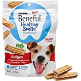 Beneful Healthy Smile Dental Dog Snacks - Ridges - For Small/Medium Dogs - 10 Treats Per Package - Pack of 2