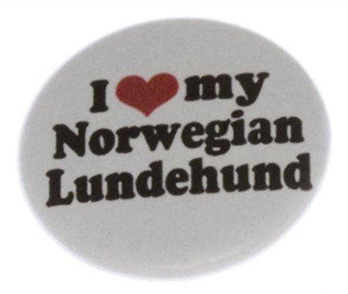 "A&T Designs Unisex - I Love My Norwegian Lundehund 1.25"" Pinback Button Pin Dog"