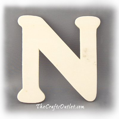 The Crafts Outlet Unfinished Plywood Plaque, Letter M, 3-1/4-Inch Width with 1/4-Inch Thickness