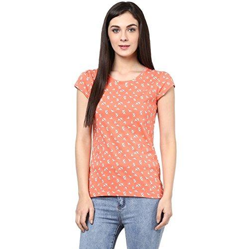 Honey-by-Pantaloons-Womens-Cotton-T-Shirt-205000005539665PeachM