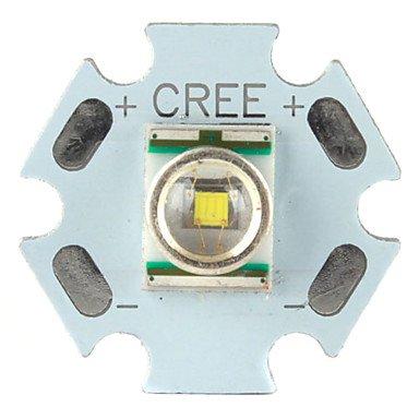 Zcldiy Cree 3W 107Lm 6000-7000K White Light Led Emitter With Aluminum Base (3.2-3.6V)