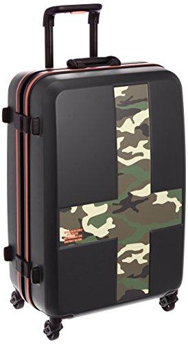 [イノベーター] innovator スーツケース 58cm 60L 4kg TSAロック付 2年保証 サイレントキャスター フレーム開閉 INV58T MATTE BLACK/CAMOUFLAGE (マットブラックxカモフラージュ)