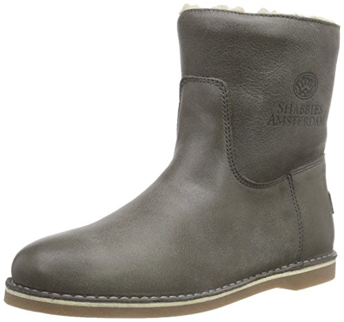 Shabbies AmsterdamShabbies ladies short boot 16cm with Real Wool lining Alissa as FW2014 - Stivaletti classici imbottiti, corti donna , Grigio (Grau (Sottobosco 459)), 41