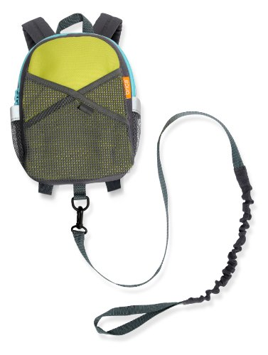 New BRICA By-My-Side Safety Harness Backpack, Green/Blue