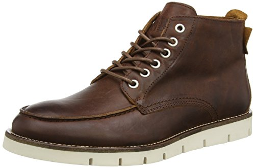 JACK & JONES Jjkingston Leather Boot Cognac, Stivaletti classici non imbottiti, corti uomo, Marrone (Cognac), 45