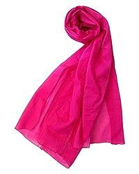 Shiborika Women's Stole (SS-P-03, Pink)