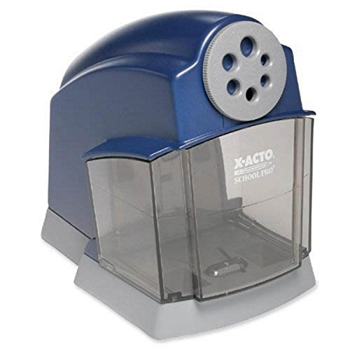 X-Acto School Electric Pencil Sharpener, Blue/Gray