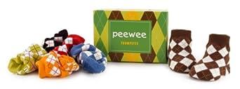 Trumpette Peewee Argyle Baby socks 0-12 Months 6 pack