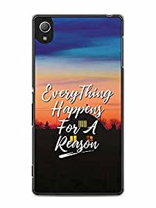 YuBingo Everything Happens For A Reason Designer Mobile Case Back Cover for Sony Xperia Z4