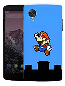 "Humor Gang Kid Game Cartoon Jumping Printed Designer Mobile Back Cover For ""LG Google Nexus 5"" (3D, Matte, Premium Quality Snap On Case)"