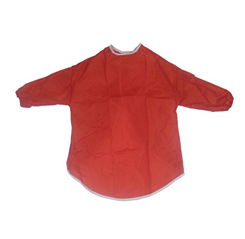 childrens-kids-toddler-waterproof-play-apron-painting-baking-cooking-smock-age-2-4-years-red