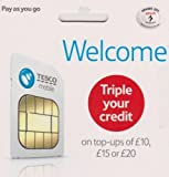OFFICIAL TESCO PAY AS YOU GO Multi Sim (Preloaded with £30 FREE Triple Credit - Unlimited Calls, Texts and Data -> Fits All Mobiles Device, Androids, iPads, Galaxy Tabs, Tablets and Wifi Dongles - > Mobiles Directs Communications Ltd