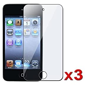 3x Clear Screen Protector for Apple iPod Touch 4 (4th Generation)
