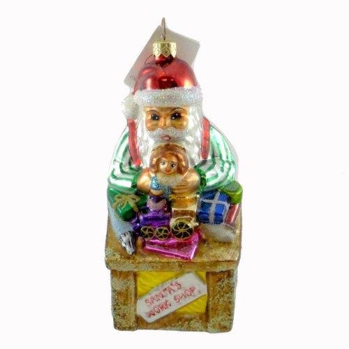 Radko SANTAS WORKSHOP 972310 Ornament Toys Work Bench New