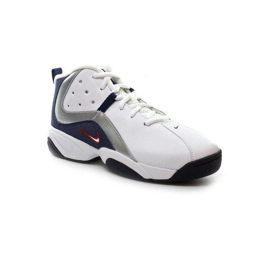 Nike Team Hustle D II Basketball Shoes White Youth Boys