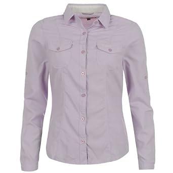 Craghoppers Womens Nosilife Darla Long Sleeve Shirt Ladies Blue Violet 16 (XL)