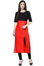 Femeie Apparel Women's Cotton Kurti ( western-designer_Red_Free Size)