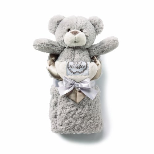 kathy ireland Plush and Blanket Set, Taupe Bear