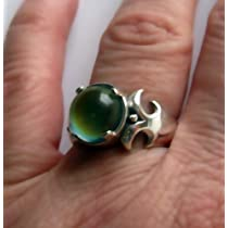 Fleur Sterling Silver Mood Ring with Vivid Color Changes