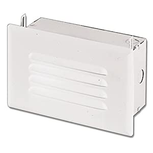 Halo h2920ict step light ic incandescent with louver face plate no junction box or bar for Exterior light no junction box