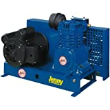 Jenny Compressors K1A-B-208/3 1-HP 30-Gallon Tank 3 Phase 208-Volt, Single-Stage Electric Base Plate Mounted Air Compressor
