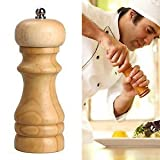 AADYA Mini Wooden Salt And Spice Pepper Grinder Mixer Burr Mill by AADYA