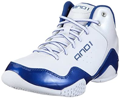 AND1 Straight Cash Mid 1001103027, Chaussures de basketball femme - Blanc-TR-G1-8, 48.5 EU