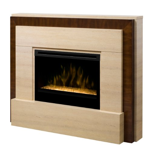 Dimplex Gibraltar 63-inch Electric Fireplace With Glass Embers - Travertine - Gds33g-1240tr photo B009IIUK2S.jpg