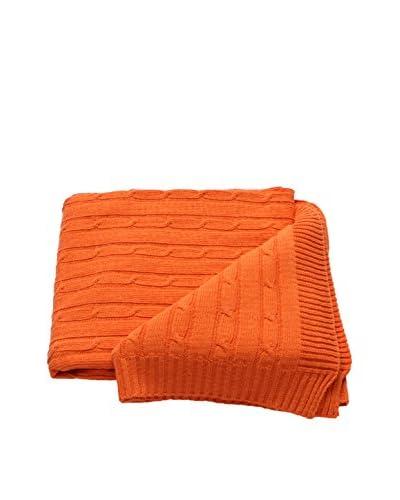 Mili Designs Braided Zig Zag Throw, Orange